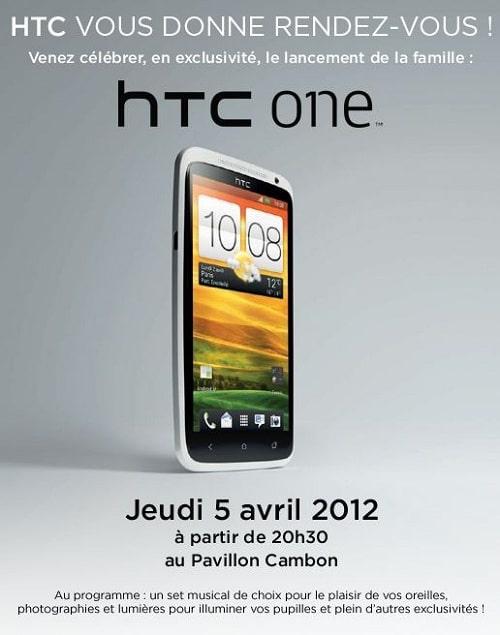 Affiche soirée lancement de la gamme HTC One