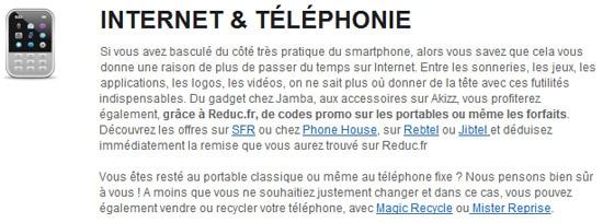 internet et telephonie