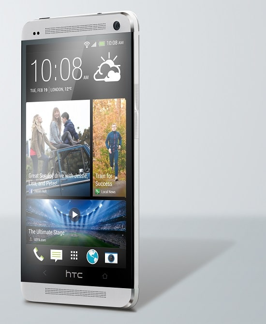 HTC One Argent de face