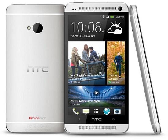 HTC One Argent sous plusieurs vues
