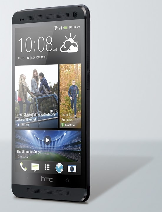 HTC One Noir de face
