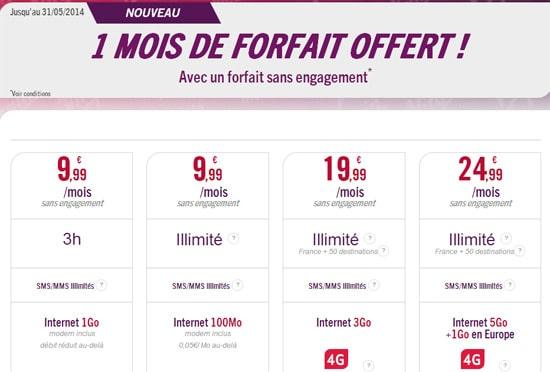 Virgin Mobile forfait offert